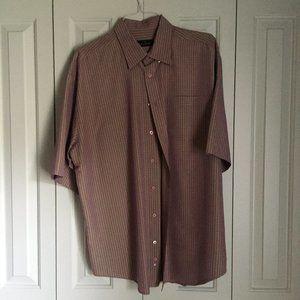 Brown/Red Bugatchi Shirt | Size XXL